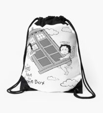 The Angels have the Phone Box - Version 3 BW (for light tees) Drawstring Bag