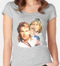 Patrick Swayze Mural Women's Fitted Scoop T-Shirt