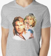 Patrick Swayze Mural Men's V-Neck T-Shirt
