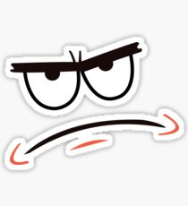 Patrick Star Angry Face Sticker