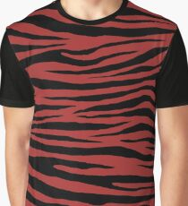 0075 Web Brown Tiger Graphic T-Shirt
