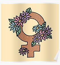 Peace Feminist Feminism Girly Flawless Sassy Girly Tumblr Flower 90s Daisy Print Poster