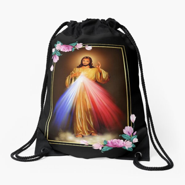Immaculate Heart of Jesus Christ Sacred Heart Catholic Gift Drawstring Bag