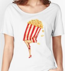 Let's All Go to the Lobby - Popcorn Girl Women's Relaxed Fit T-Shirt