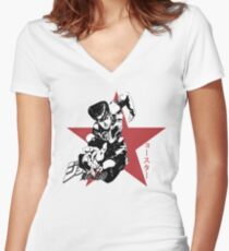 Josuke Higashikata - Jojo's Bizarre Adventure Women's Fitted V-Neck T-Shirt