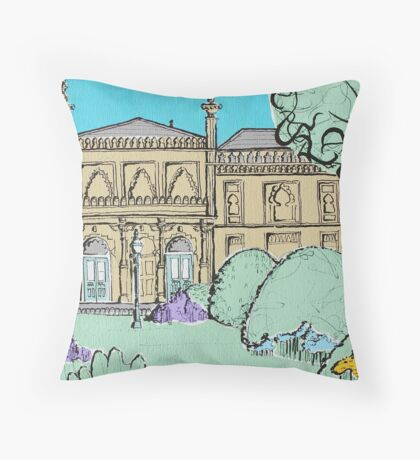 Brighton Museum & Art Gallery ( Card ) Throw Pillow