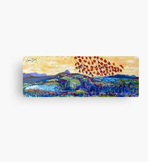 Moyhastin Panorama: from Clew Bay to the Sheeffry Hills - Mayo Canvas Print