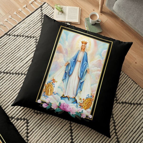 Litany of the Blessed Virgin Mary Floor Pillow