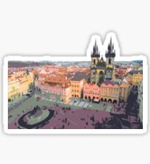 Prague Old Town Square Sticker