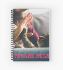 Vegans Rule - High five/four Spiral Notebook