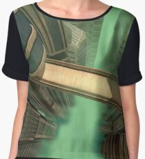 3D Illustration Futuristic City Women's Chiffon Top