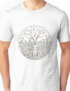 Hare in the starry forest Unisex T-Shirt