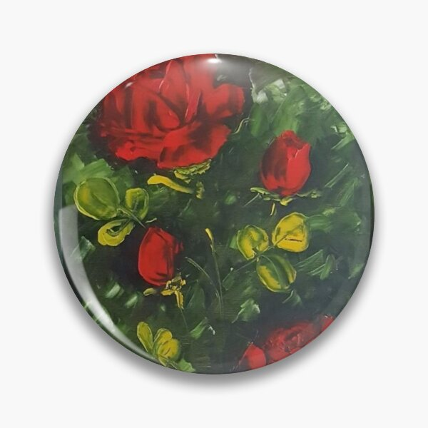 Red Roses -Flowers Pin