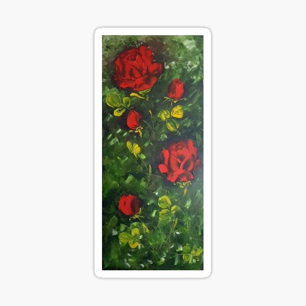 Red Roses -Flowers Sticker