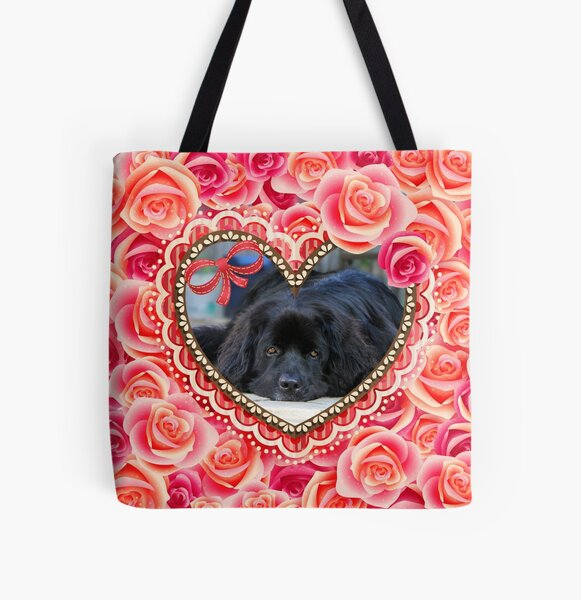 Newfie Heart All Over Print Tote Bag