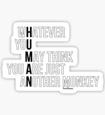 Just another monkey Sticker