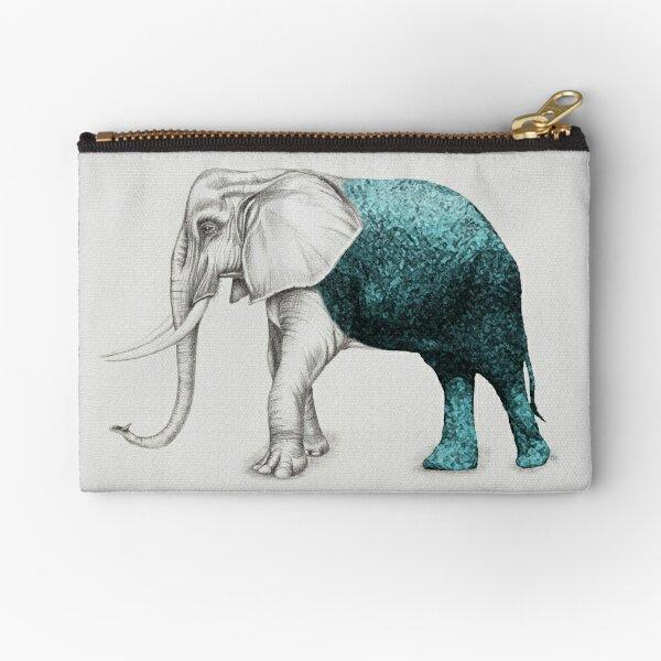 The Stone Elephant Zipper Pouch