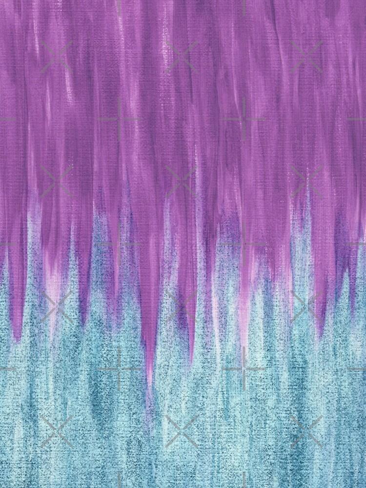 Aqua Sparkle Berry Abstract by beththompsonart