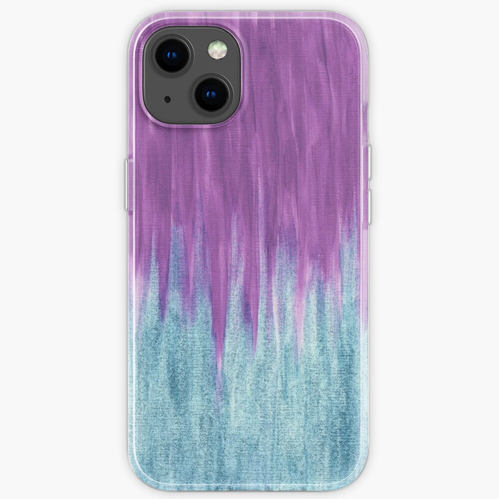 Aqua Sparkle Berry Abstract iPhone Case