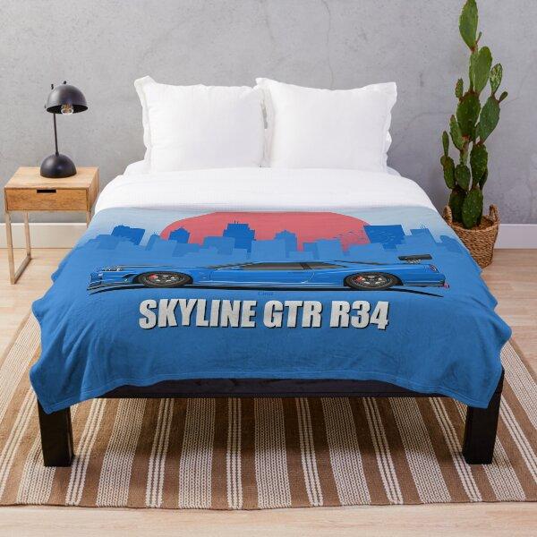 Skyline GTR R34 Throw Blanket