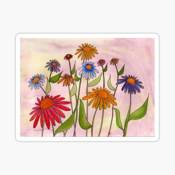 Daisy Bouquet Sticker