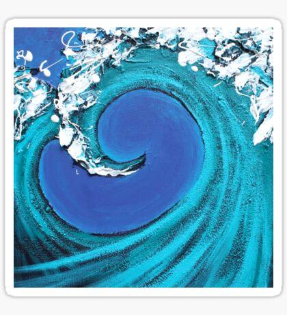 Waves Collide Sticker