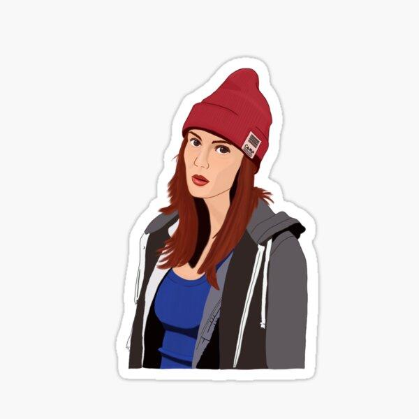 Nicole Haught in beanie Sticker