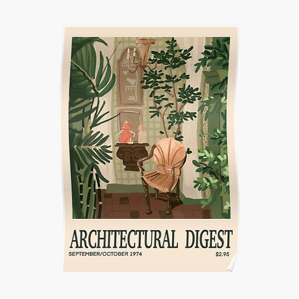 Inspired in Architectural Digest vintage Cover Poster