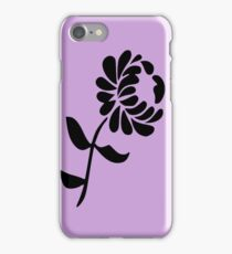 Leaning Flower on Pink iPhone Case/Skin