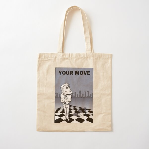 Guy on a chess board waiting to move Cotton Tote Bag
