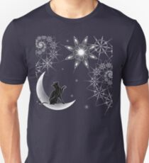 Cat in the moon Unisex T-Shirt