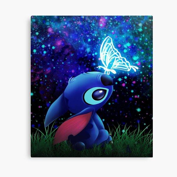 stitch butterfly Starry sky Canvas Print