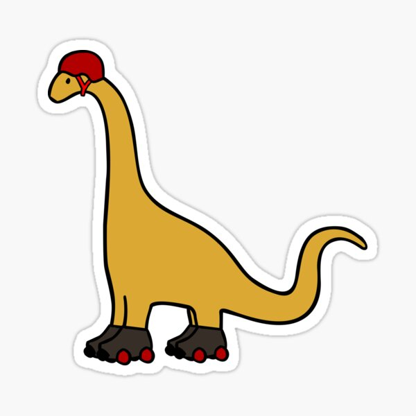 Roller Derby Brachiosaurus Sticker