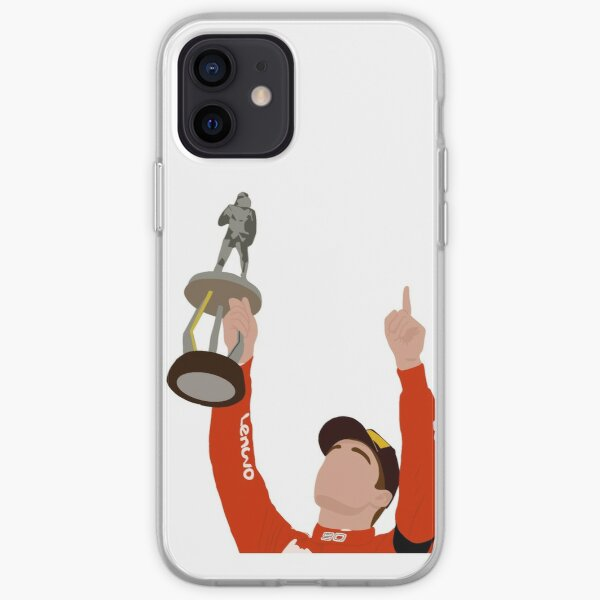 Charles Leclerc after winning the 2019 Belgian Grand Prix at Spa Francorchamps iPhone Soft Case
