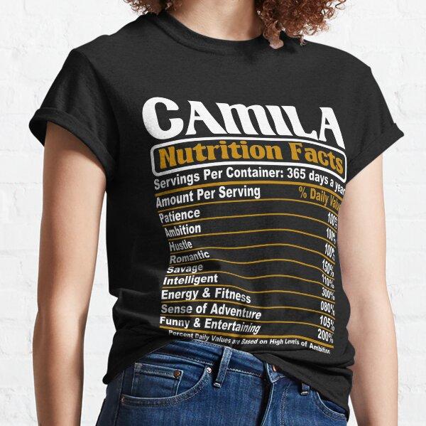Datos nutricionales de Camila Camiseta clásica