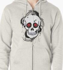 Skull roses Zipped Hoodie