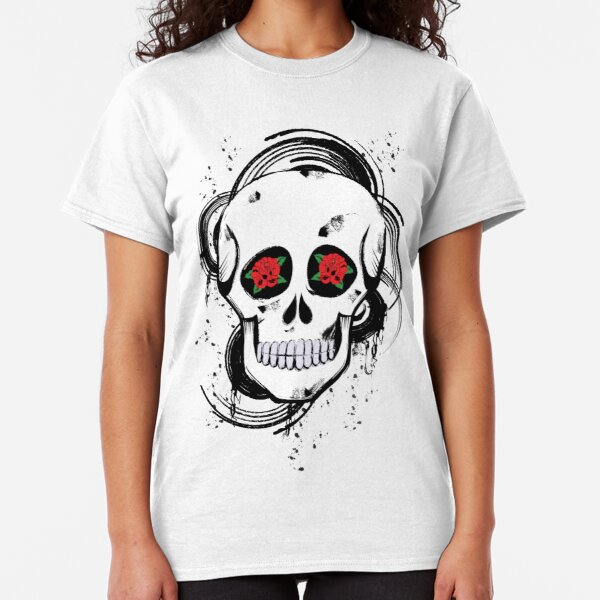 Skull roses Classic T-Shirt