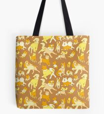Dogs In Sweaters (Brown) Tote Bag