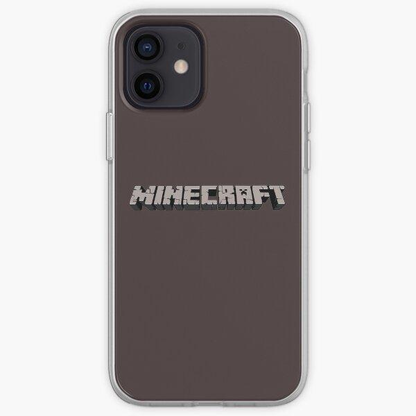 Minecraft logo iPhone Soft Case