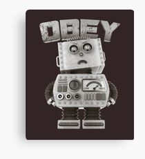 Obey The Robot Canvas Print