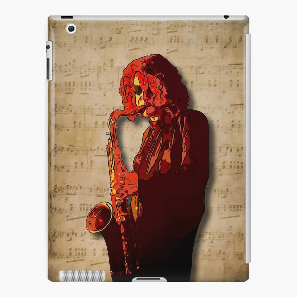 SaxMan Hits the Sheets iPad Case & Skin