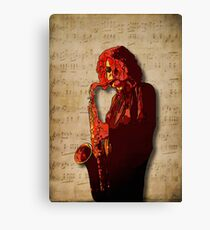 SaxMan Hits the Sheets Canvas Print