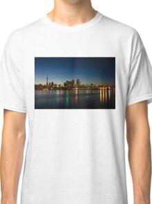 Blue Hour - Toronto's Dazzling Skyline Reflecting in Lake Ontario Classic T-Shirt