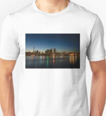 Blue Hour - Toronto's Dazzling Skyline Reflecting in Lake Ontario T-Shirt