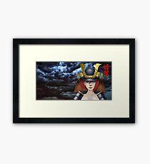 Pin Up Samurai Framed Print