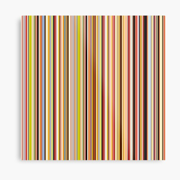 Pattern retro color Metal Print