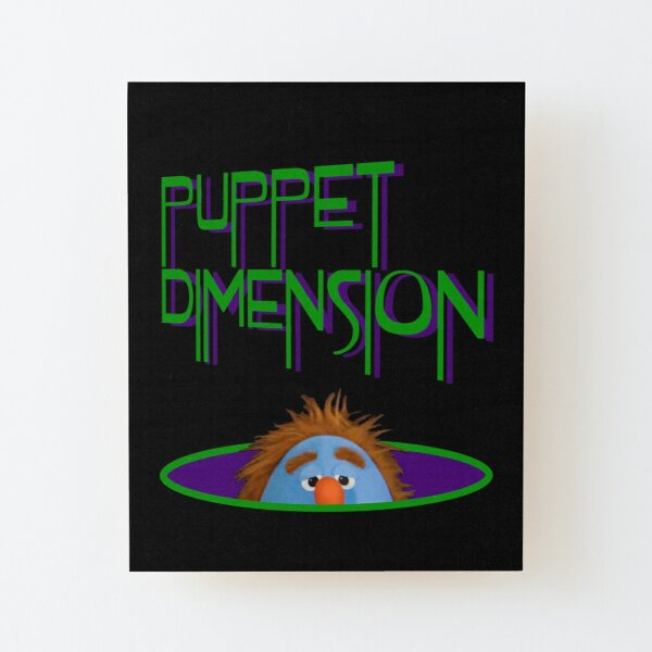 Puppet Dimension: Ted's Eyeballs Wood Mounted Print