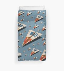 MAD Paper Airplane 147 Pattern Duvet Cover