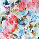Peony and Morning Glory Floral by Stephie Butler
