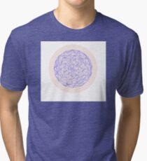 Sphere, Lilac.  Tri-blend T-Shirt